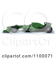Clipart 3d Green Formula One Race Car Royalty Free CGI Illustration