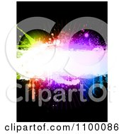 Clipart Background Of Colorful Grunge Splatters And Copyspace On Black Royalty Free Vector Illustration