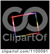 Clipart Slanted Neon Colored Frame On Black Royalty Free Vector Illustration by KJ Pargeter