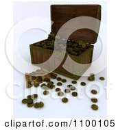 Clipart 3d Wooden Treasure Chest With Gold Booty Coins A Map And Key Royalty Free CGI Illustration by KJ Pargeter