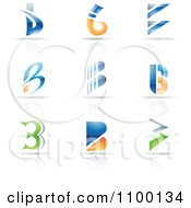 Clipart Colorful Letter B Icons With Reflections Royalty Free Vector Illustration