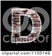 Clipart 3d Capital Letter D Made Of Stone Wall Texture Royalty Free CGI Illustration by chrisroll
