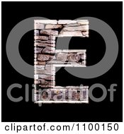 Clipart 3d Capital Letter E Made Of Stone Wall Texture Royalty Free CGI Illustration by chrisroll