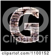 Clipart 3d Capital Letter G Made Of Stone Wall Texture Royalty Free CGI Illustration