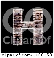 Clipart 3d Capital Letter H Made Of Stone Wall Texture Royalty Free CGI Illustration by chrisroll