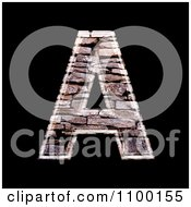 Clipart 3d Capital Letter A Made Of Stone Wall Texture Royalty Free CGI Illustration by chrisroll