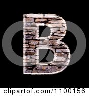 Clipart 3d Capital Letter B Made Of Stone Wall Texture Royalty Free CGI Illustration by chrisroll