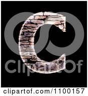 3d Capital Letter C Made Of Stone Wall Texture