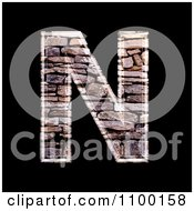 Clipart 3d Capital Letter N Made Of Stone Wall Texture Royalty Free CGI Illustration by chrisroll