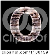 Clipart 3d Capital Letter O Made Of Stone Wall Texture Royalty Free CGI Illustration