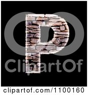 Clipart 3d Capital Letter P Made Of Stone Wall Texture Royalty Free CGI Illustration by chrisroll