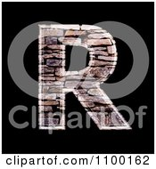 Clipart 3d Capital Letter R Made Of Stone Wall Texture Royalty Free CGI Illustration by chrisroll