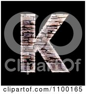Clipart 3d Capital Letter K Made Of Stone Wall Texture Royalty Free CGI Illustration