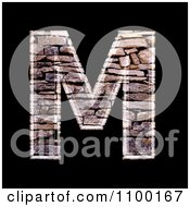 Clipart 3d Capital Letter M Made Of Stone Wall Texture Royalty Free CGI Illustration by chrisroll