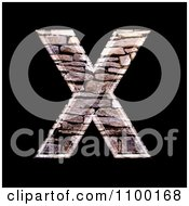 Clipart 3d Capital Letter X Made Of Stone Wall Texture Royalty Free CGI Illustration by chrisroll