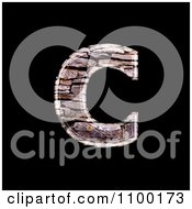 3d Lowercase Letter C Made Of Stone Wall Texture