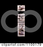 Clipart 3d Lowercase Letter I Made Of Stone Wall Texture Royalty Free CGI Illustration