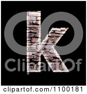 Clipart 3d Lowercase Letter K Made Of Stone Wall Texture Royalty Free CGI Illustration