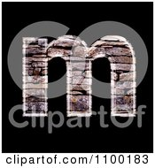 3d Lowercase Letter M Made Of Stone Wall Texture