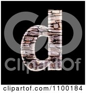 Clipart 3d Lowercase Letter D Made Of Stone Wall Texture Royalty Free CGI Illustration