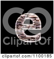 Clipart 3d Lowercase Letter E Made Of Stone Wall Texture Royalty Free CGI Illustration