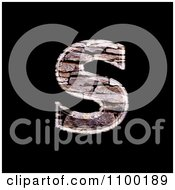 3d Lowercase Letter S Made Of Stone Wall Texture