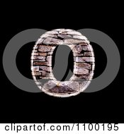 Clipart 3d Lowercase Letter O Made Of Stone Wall Texture Royalty Free CGI Illustration
