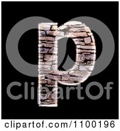 3d Lowercase Letter P Made Of Stone Wall Texture