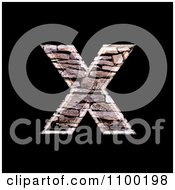 3d Capital Letter X Made Of Stone Wall Texture