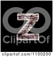 3d Capital Letter Z Made Of Stone Wall Texture