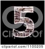 Clipart 3d Number 5 Made Of Stone Wall Texture Royalty Free CGI Illustration