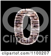 3d Number 0 Made Of Stone Wall Texture