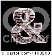 Clipart 3d Ampersand Symbol Made Of Stone Wall Texture Royalty Free CGI Illustration by chrisroll