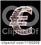 Clipart 3d Euro Symbol Made Of Stone Wall Texture Royalty Free CGI Illustration