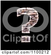 Clipart 3d Question Mark Made Of Stone Wall Texture Royalty Free CGI Illustration by chrisroll