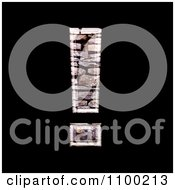 3d Exclamation Point Made Of Stone Wall Texture