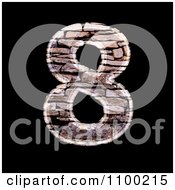 Clipart 3d Number 8 Made Of Stone Wall Texture Royalty Free CGI Illustration
