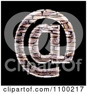 Clipart 3d Arobase At Symbol Made Of Stone Wall Texture Royalty Free CGI Illustration by chrisroll