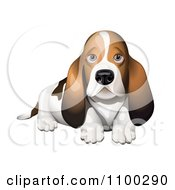 Clipart Basset Hound Puppy Royalty Free Vector Illustration by Oligo
