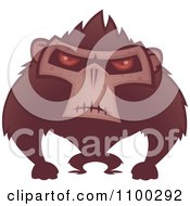 Clipart Angry Ape With Red Eyes Royalty Free Vector Illustration