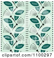 Clipart Seamless Teal Floral Background Pattern Royalty Free Vector Illustration