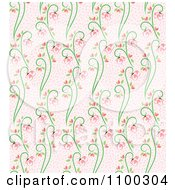 Clipart Seamless Pink And Green Butterfly And Vine Floral Background Pattern 3 Royalty Free Vector Illustration by Cherie Reve