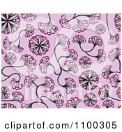 Clipart Seamless Pink And Purple Floral Ginkgo Biloba Background Pattern Royalty Free Vector Illustration by Cherie Reve