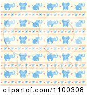 Clipart Blue Elephant Bow Heart And Beige Pattern Royalty Free Vector Illustration by Cherie Reve