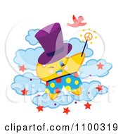 Clipart Magician Star On Clouds Royalty Free Vector Illustration by Cherie Reve