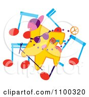 Clipart Rapper Star With Music Notes Royalty Free Vector Illustration by Cherie Reve