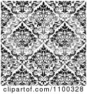 Clipart Black And White Triangular Damask Pattern Seamless Background 23 Royalty Free Vector Illustration