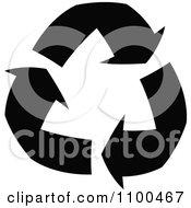 Solid Black Recycle Arrows
