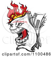 Clipart Screaming Burning Overdue Bill Statement Royalty Free Vector Illustration