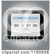 Clipart 3d Coming Soon Website Page On A Tablet Computer Royalty Free Vector Illustration